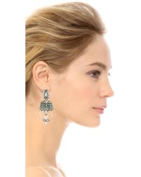 Samantha Wills - Metallic World Form Here Grand Earrings - Burnished Silver - Lyst