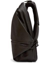 Côte&Ciel Black Coated Canvas Meuse Backpack for men