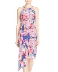 Charlie Jade - Pink Floral Silk Slipdress - Lyst
