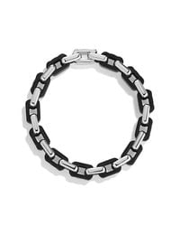 David Yurman | Black Modern Cable Empire Link Bracelet for Men | Lyst