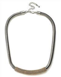 Jaeger Gray Tubular Textured Necklace