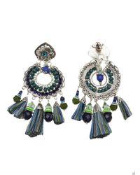 Gas Bijoux - Metallic 'sioux' Feather Earrings - Lyst