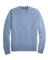 Brooks Brothers - Blue Cashmere Crewneck Sweater for Men - Lyst