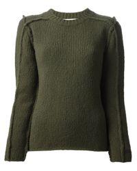 Marni Green Exposed Seam Sweater