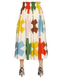 Vivienne Westwood Anglomania Natural Printed Cotton Calico Skirt