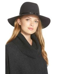 Janessa Leone - Metallic 'slate' Floppy Wool Felt Hat - Lyst