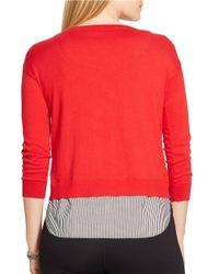 Lauren by Ralph Lauren Plus Mock-layered Crewneck Sweater
