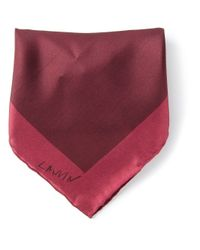 Lanvin | Red Two Tone Pocket Square for Men | Lyst