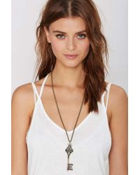 Nasty Gal | Metallic Low Key Chain Necklace | Lyst