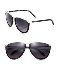 Jimmy Choo - Black Milas Oversized Sunglasses - Lyst