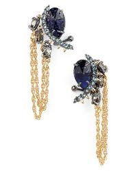 Alexis Bittar | Metallic Spike Drop Chain Stud Earrings | Lyst