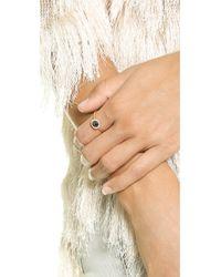 Blanca Monros Gomez Metallic Large Aura Solitaire Ring - Rose Gold/Black Diamond