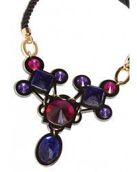 Matthew Williamson | Black Jewelled Crescent Necklace | Lyst