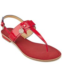 Tommy Hilfiger Red Women'S Harleen Thong Sandals
