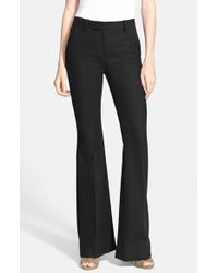 Theory | Black 'Jotsna' Stretch Wool Flare Pants | Lyst