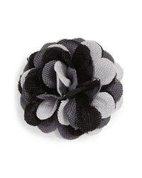 Hook + Albert | Gray Floral Lapel Pin - Adams | Lyst