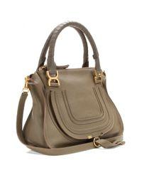 Chloé Brown Marcie Medium Leather Shoulder Bag