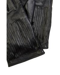 Karen Millen   Black Fringe Glove   Lyst