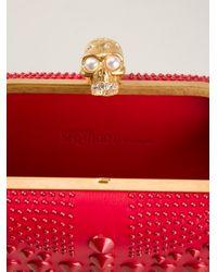 Alexander McQueen - Red 'britannia Skull' Clutch - Lyst