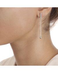 Monica Vinader Metallic Skinny Bud Long Diamond Bar Earrings