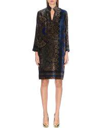 Etro Multicolor Velvet Devore-print Dress