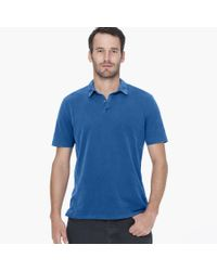 James Perse - Blue Sueded Jersey Polo for Men - Lyst