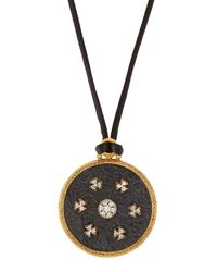Gurhan | Black Imperial Diamond Pendant Cord Necklace | Lyst