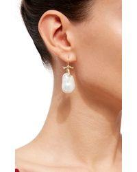 Annette Ferdinandsen White Baroque Pearl Branch Earrings