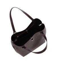 Karen Millen | Red Km Perforated Bucket Bag | Lyst