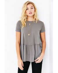 Truly Madly Deeply Green Dusty Road Peplum Tee