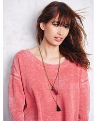 Free People   Red Womens Tiger Pullover   Lyst