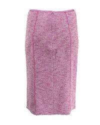 Nina Ricci Purple Light Weight Tweed Pencil Skirt