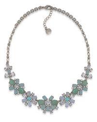 Carolee - Metallic Lux Cotton Candy Flower Pendant Collar Necklace - Lyst