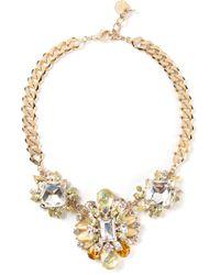 Marina Fossati - Metallic Embellished Necklace - Lyst
