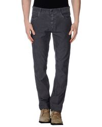 GAUDI | Gray Casual Trouser for Men | Lyst