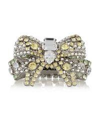 Miu Miu Yellow Silver-Plated Swarovski Crystal Bracelet