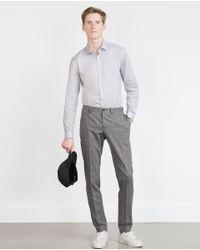 Zara | Gray Printed Shirt for Men | Lyst