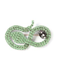 Giorgio Armani | Green Set Glass Snake Brooch | Lyst
