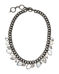 Givenchy | Gray Hematite-Tone & Opal Necklace | Lyst