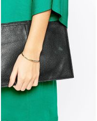 ASOS | Metallic Chain Linked Open Cuff Bracelet | Lyst