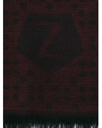 Z Zegna - Red Dotted Scarf for Men - Lyst