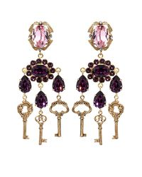 Dolce & Gabbana Metallic Escape Clip-on Embellished Earrings