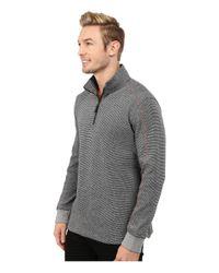 Robert Graham | Gray Comstock Long Sleeve Knit Pullover for Men | Lyst