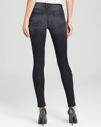 J Brand Black Jeans - 620 Close Cut Mid Rise Super Skinny In Polarized