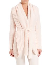 Skin | Pink Bouclé Wrap Cardigan | Lyst