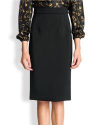 Dolce & Gabbana Black Wool Crepe Skirt