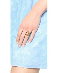 Sunahara | Metallic Statement V Ring - Gold | Lyst