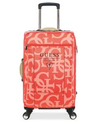 "Guess | Pink Thurston 21"" Carry-on Spinner Suitcase for Men 
