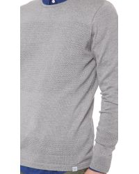 Norse Projects Gray Bubble Crew Sweater for men