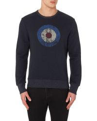 Ben Sherman | Blue Original 1963 Print Crew Neck Sweatshirt for Men | Lyst